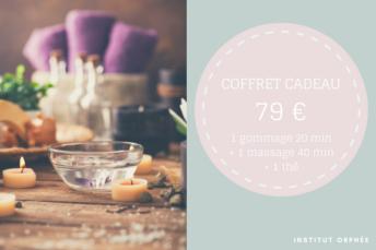 Coffret cadeau – 1 gommage + 1 modelage + 1 thé